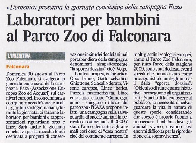 Corriere Adriatico<br>26 agosto 2009