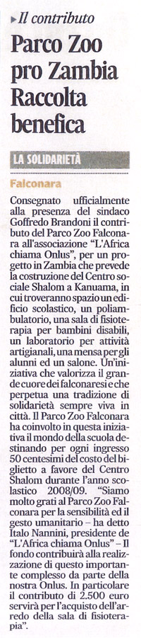 Corriere Adriatico<br>6 dicembre 2009