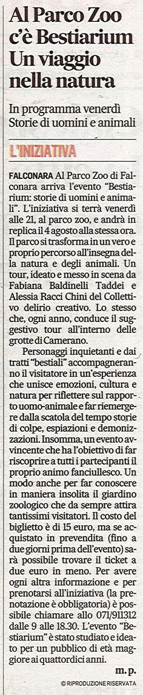 Corriere Adriatico<br>20 luglio 2016