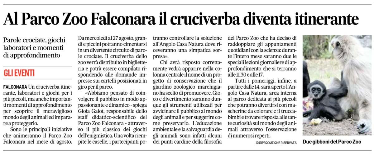 Corriere Adriatico 3 agosto 2017