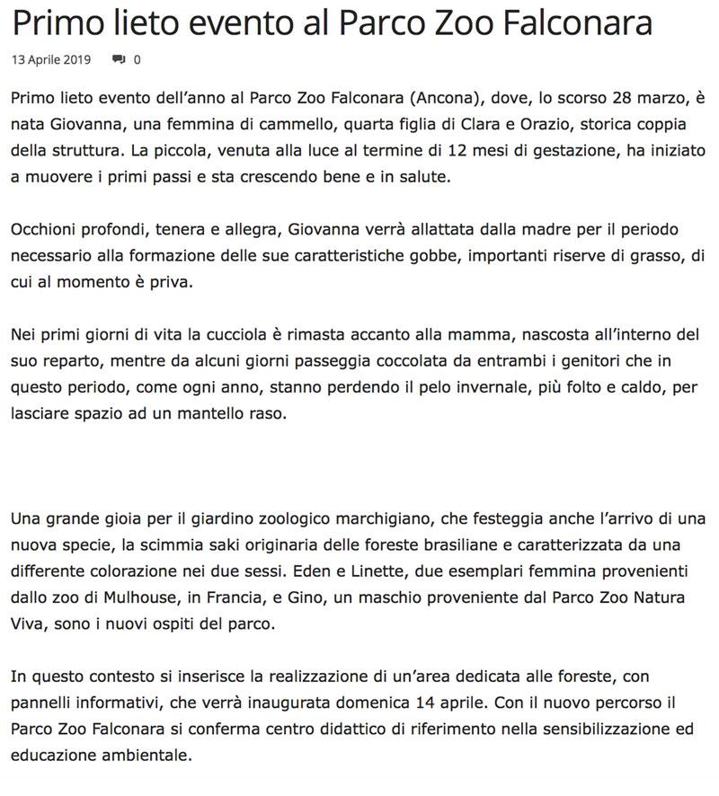 Marchenotizie.it 13 aprile 2019